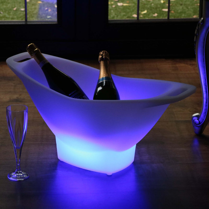 Large LED Ice Bucket, Light Up Champagne Wine Cooler, Colour Changing