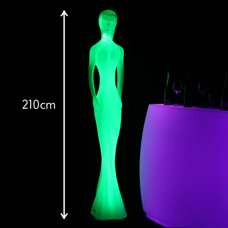LED Figurine Floor Lamp, 210cm Tall Multi Colour Feature Light