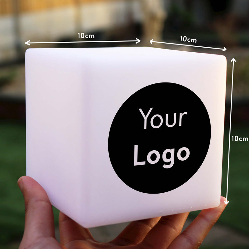 Personalised Gift Light, Bedroom Multicolour Wireless Night Lamp for Bar, Cube