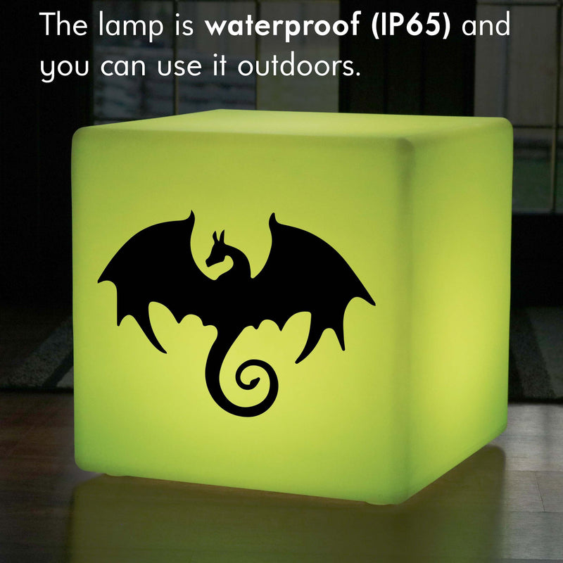 Creative Gift Light for Him, Decorative Colour Change Rechargeable LED Seat for Party, Cube , Dragon Gift Lamp