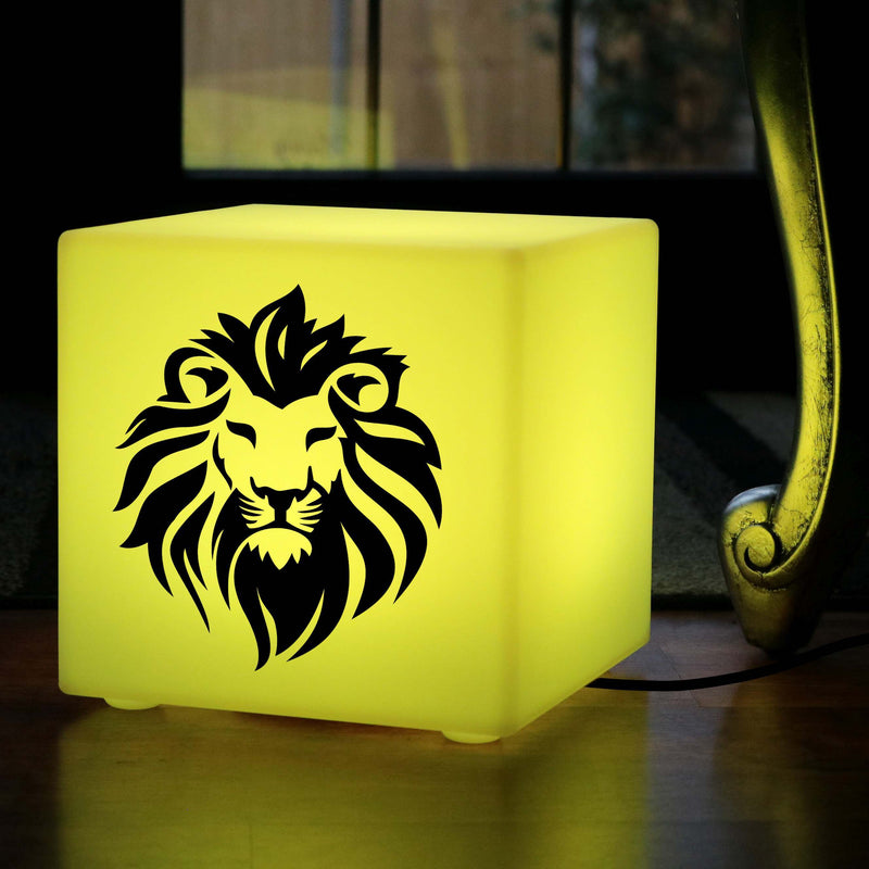 Creative Gift Lightbox, LED RGB Table Lamp for Night Club, Cube , Mains Powered, Lion Lamp