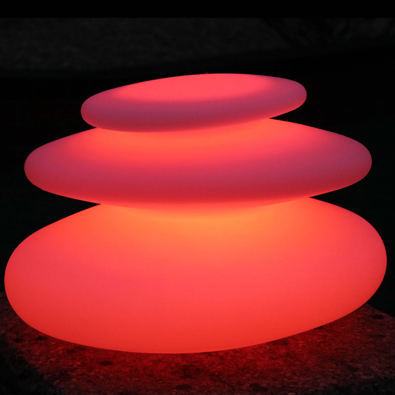 Colour changing spiral mood light, set to a static red colour