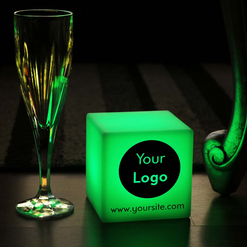 Promotional Customised Lightbox, LED Multi-Colour Battery Powered Table Bedside Lamp for Bar, Cube
