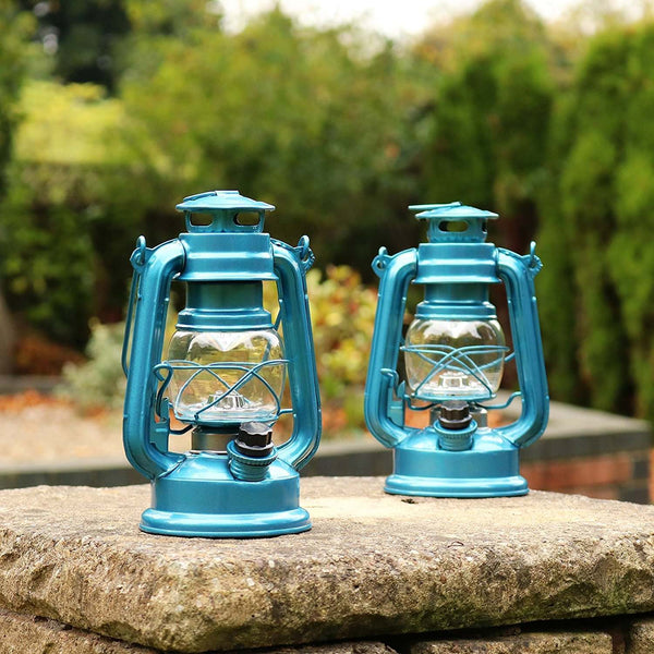 led lantern in blue