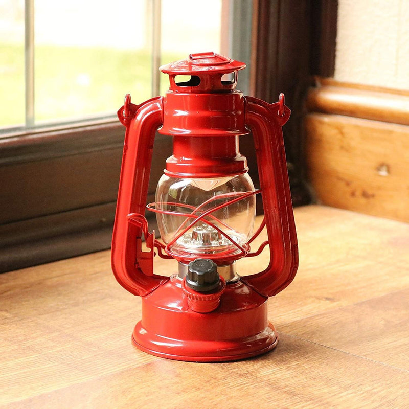 red indoor table lamp