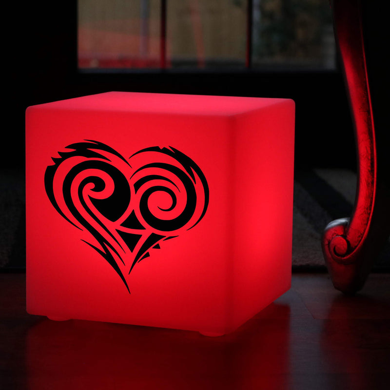 Creative Gift Light, Bedroom Multicolour Cordless Table Lamp for Restaurant, Cube , Heart Light Gift