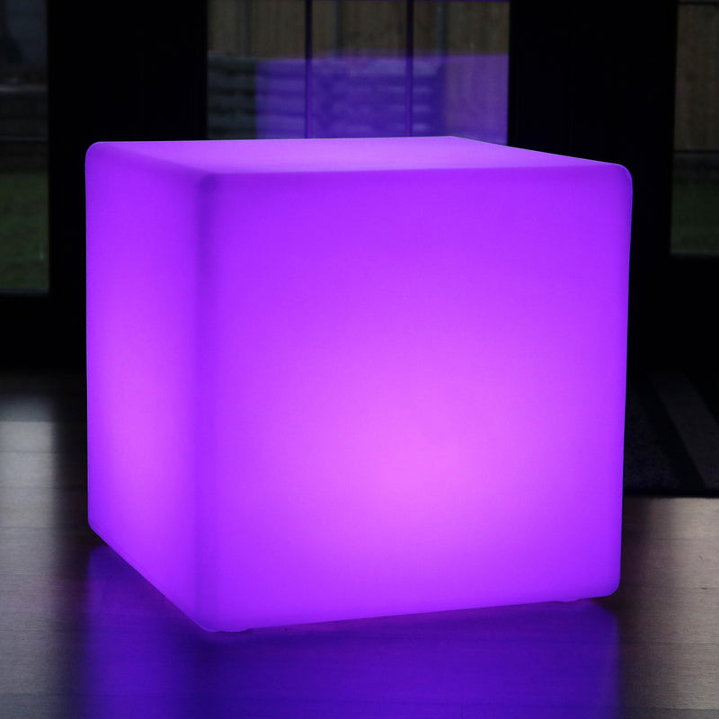 80cm LED Table Cube Light RGB Cordless Floor Lamp