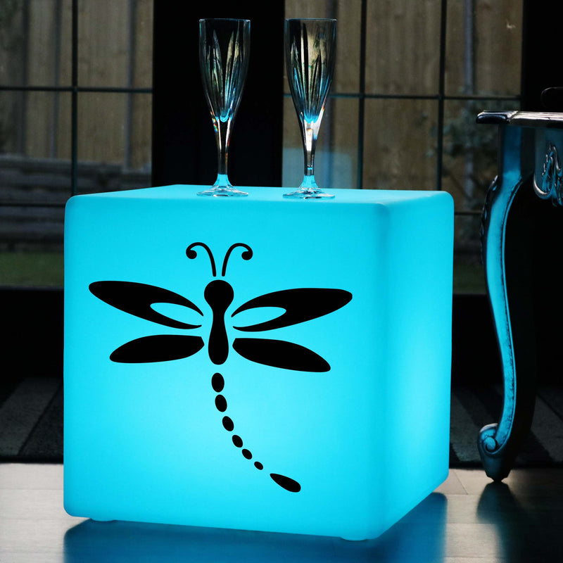 Funky Gift Lamp, Modern Remote Controlled Wireless Light Up Seat for Nightclub, Cube , Dragonfly Gift Lamp