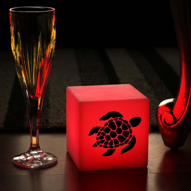Quirky Gift Light Box, Bedroom Remote Controlled Wireless Night Lamp for Restaurant, Cube , Sea Turtle Gift Light