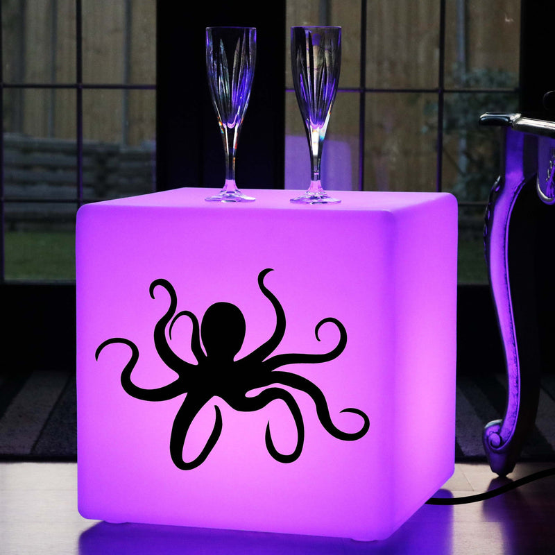 Creative Handmade Gift Light, LED RGB Light Up Seat for Party, Cube , Mains Powered, Octopus Gift Light