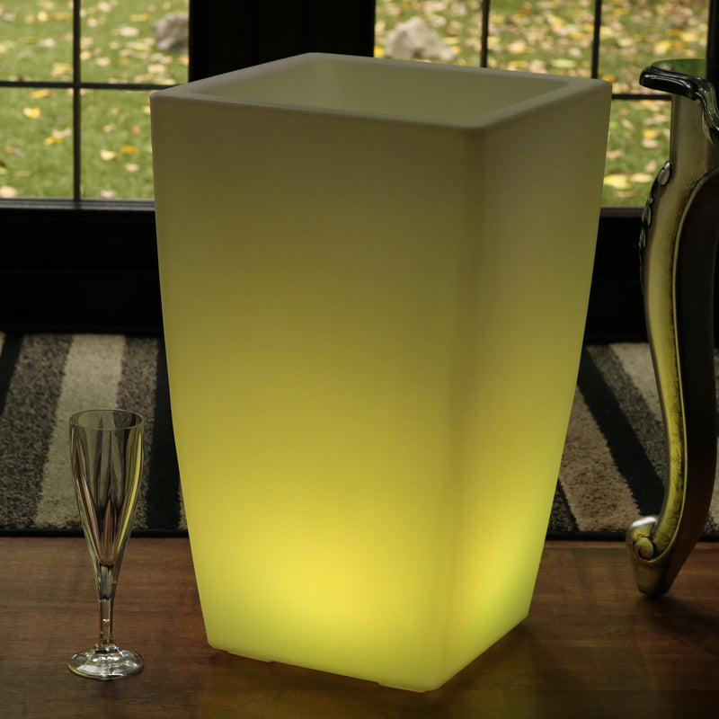 Outdoor Floor Standing LED Wine Champagne Ice Bucket, Mains Powered Garden Light, 50cm