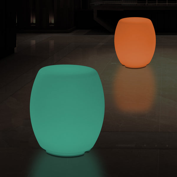 Multi Colour LED Stool Seat, Modern Dimmable RGB Floor Lamp with Remote, 44cm