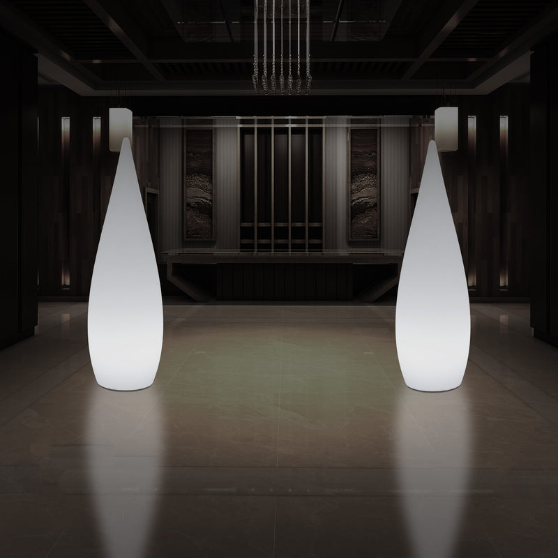 1.2 Metre Tall Designer LED Floor Lamp, Indoor E27 Water Drop Living Room Light, White