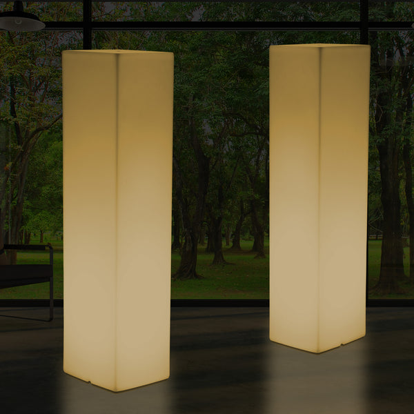 Large 1.8 Metre Floor Standing Lamp, Modern LED Plinth Column Pillar Light, Warm White