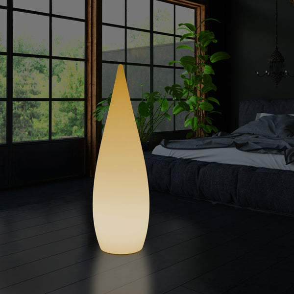 Tall Decorative LED Floor Lamp, 150cm 1.5m Designer Waterdrop Light, E27, Warm White