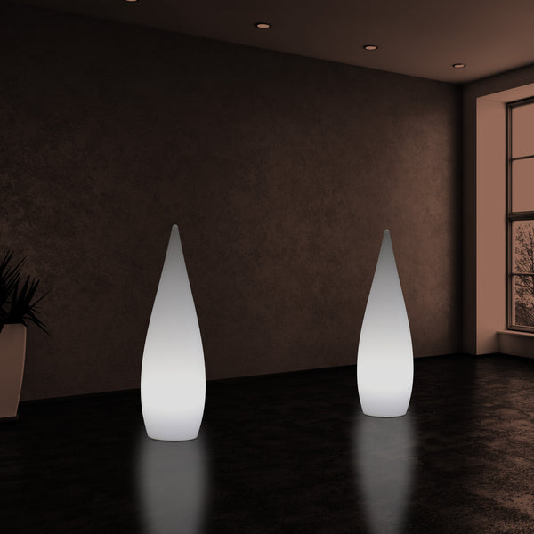80cm Indoor Designer E27 Floor Standing Lamp, Water Drop Light for Living Room, White
