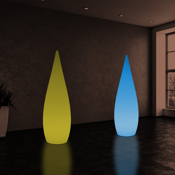 150cm Large Designer LED Floor Lamp, 1.5m Wireless Colour Changing Water Drop Light