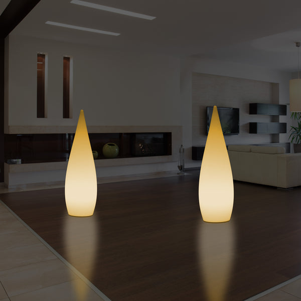 Decorative E27 Floor Lamp for Bedroom, 80cm Indoor LED Waterdrop Light, Warm White Bulb