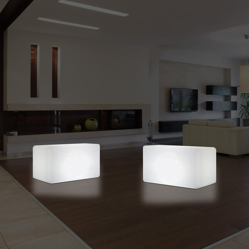 LED Bench Table, Multi Colour Modern Stool Seating, 55 x 35 cm RGB Dimmable Floor Lamp