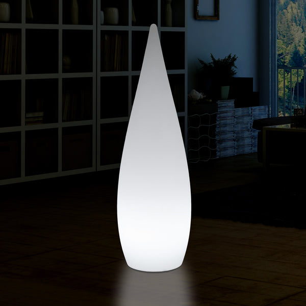 150cm 1.5m Tall Designer LED E27 Floor Lamp, Decorative Feature Water Drop Light, White
