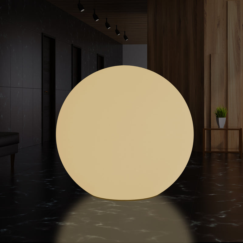 100cm Orb Globe Light, Large Indoor LED E27 Floor Lamp, Warm White, 1000 mm Dia.