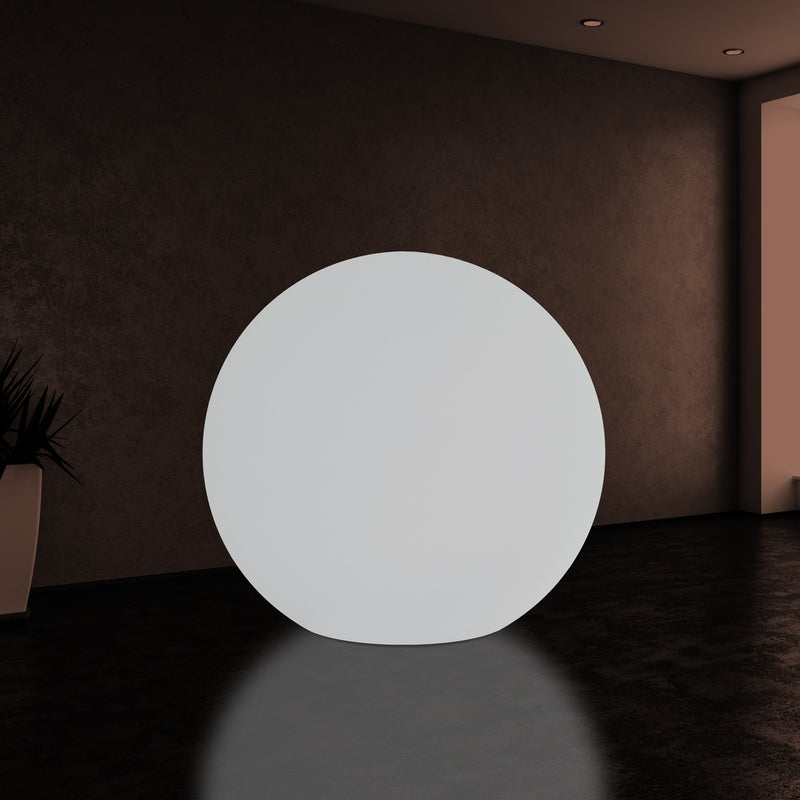 125cm Ball Sphere Light, Extra Large Globe LED E27 Floor Lamp, 1.25m Diameter, White