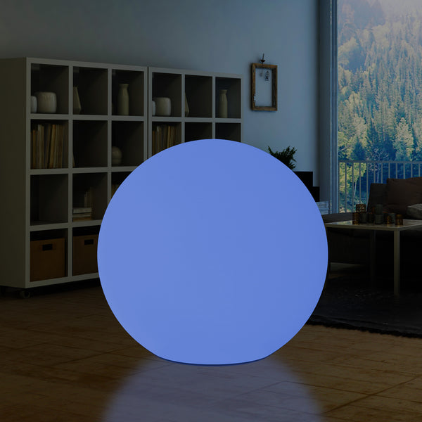 125cm LED Ball Sphere Light, Extra Large 1.25m Wireless Multi Colour Globe Orb Floor Lamp