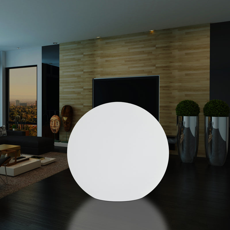 Large 100 cm LED Sphere Ball Light, Indoor E27 Floor Lamp, White, 1 Metre Diameter