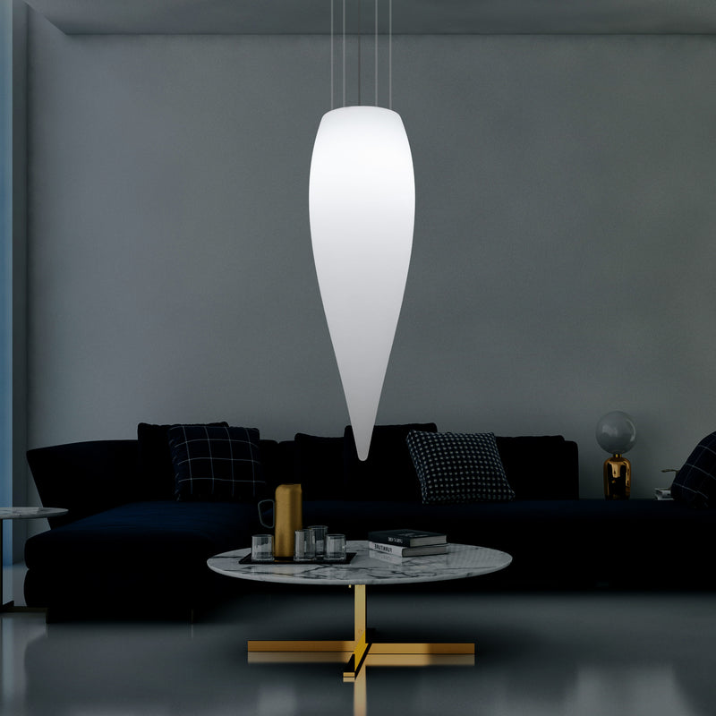 Huge 120cm Hanging Waterdrop Pendant Light, Decorative Suspension LED Lamp, E27, White