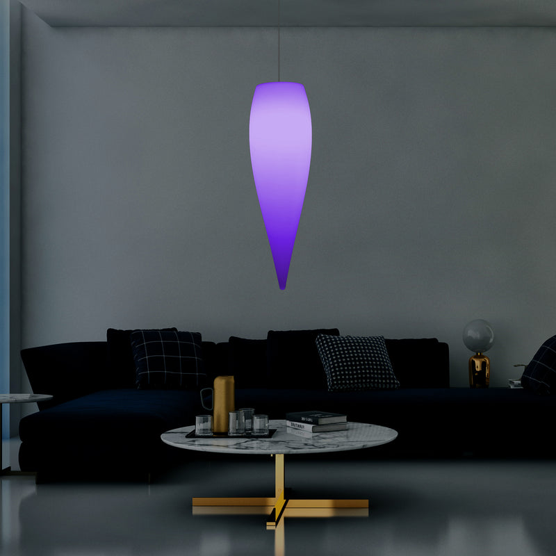 Designer Water Drop Suspension Lamp, Icicle LED Pendant Light, 80cm, E27, RGB Mood Lighting