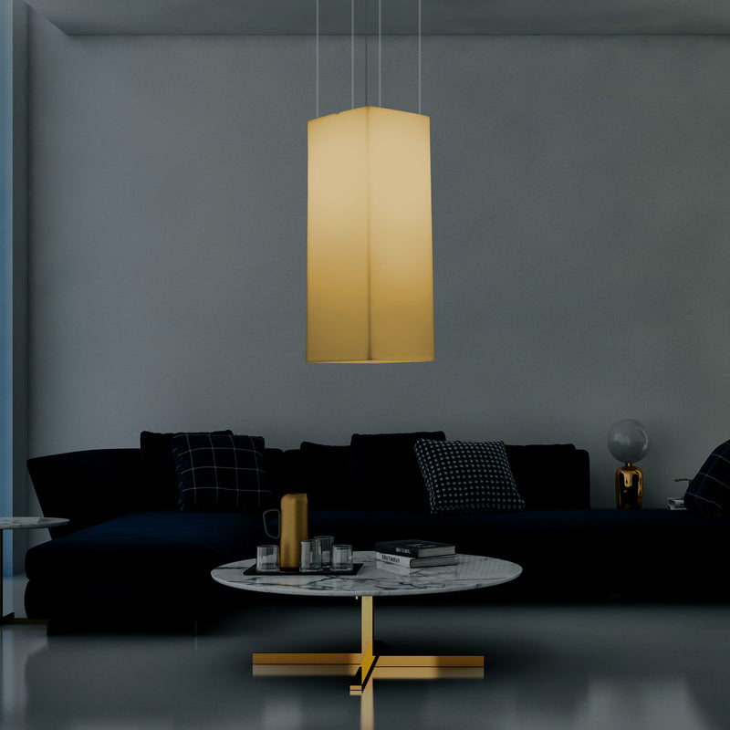 Column Pendant LED Light, Designer Ceiling Lamp, 80 cm, E27, Warm White