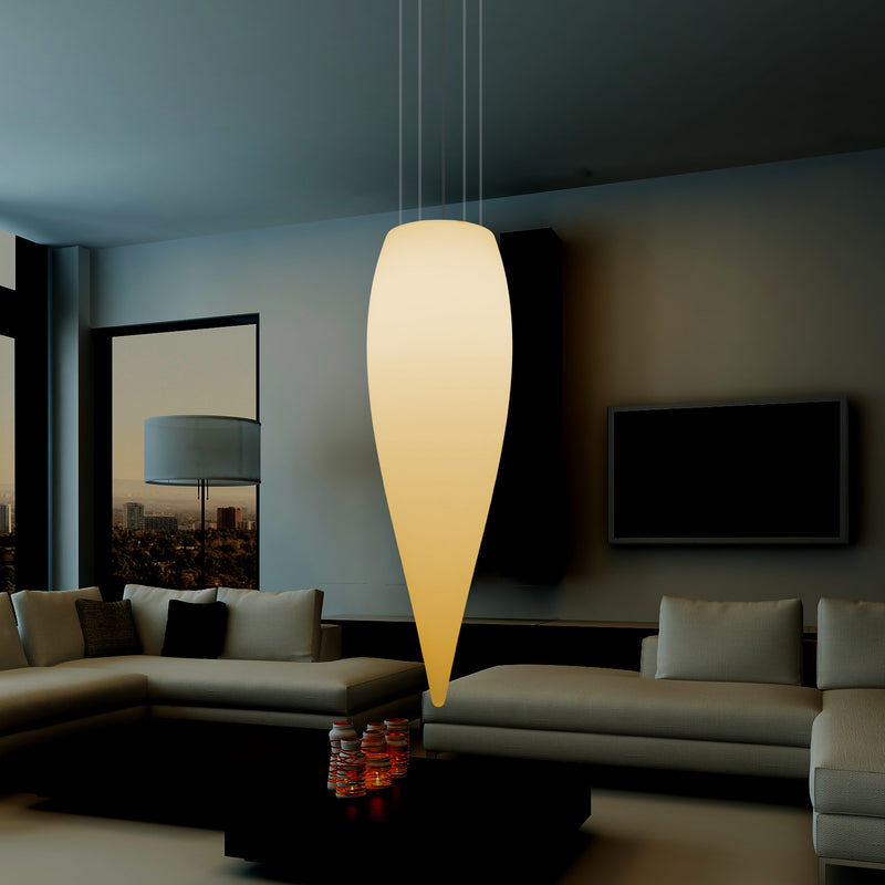 Large 120cm Water Drop Ceiling LED Light, Designer Hanging Lamp, 1200 mm, E27, Warm White