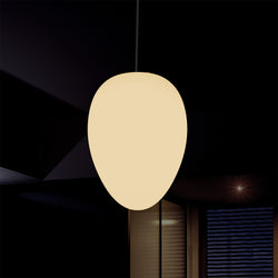 Decorative E27 Hanging Ceiling Light, Designer Oval LED Pendant Lamp, 37cm, Warm White