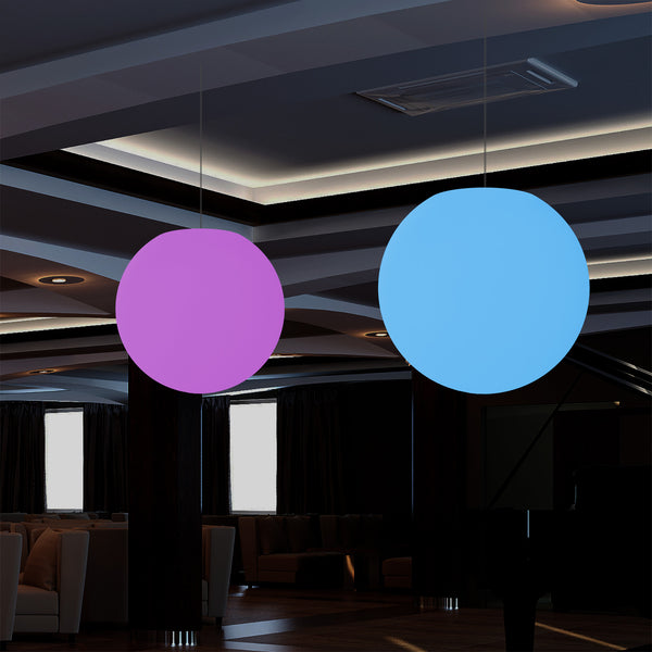 Globe Ceiling Light, Multi-Colour RGB Ball Hanging Lamp, 600 mm, LED Atmosphere Light