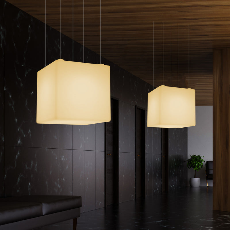 Modern Hanging Light, Cube LED Pendant Lamp, 60 x 60 cm, E27, Warm White