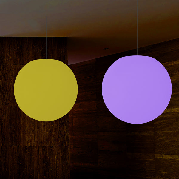 Sphere Pendant LED Light, Colour Changing RGB Orb Suspension Lamp, 500 mm, Atmosphere Lamp