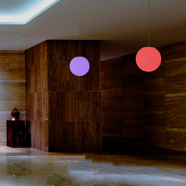 LED Sphere Pendant Light, 20cm Multi Colour RGB Ball Suspension Lamp with Remote Control