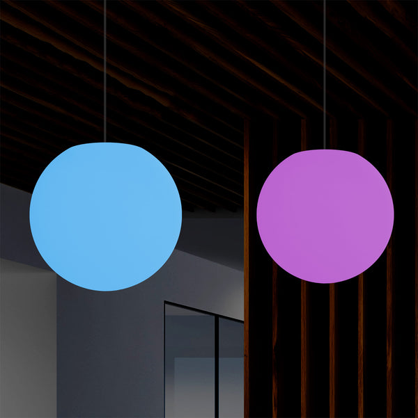 Ball Pendant Ceiling Light, 30cm RGB Hanging Orb Lamp, Multi Colour Ambient Mood Light