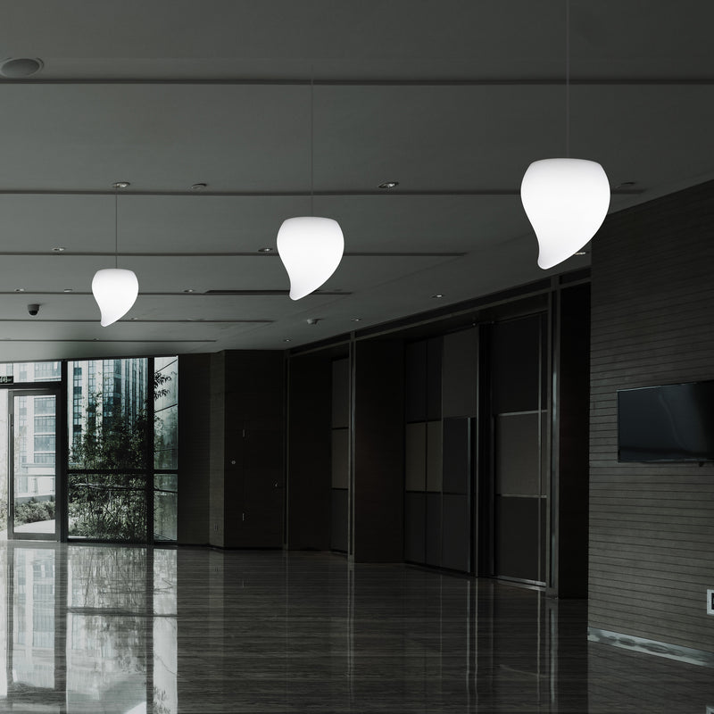 LED Tear Drop Hanging Light, Unique Decorative RGB Ceiling Lamp, 20 cm, Atmosphere Light