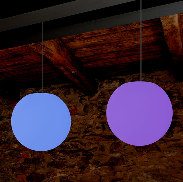 Hanging Ball Ceiling Light, 15cm Colour Changing LED Pendant Lamp, Ambient Mood Lighting