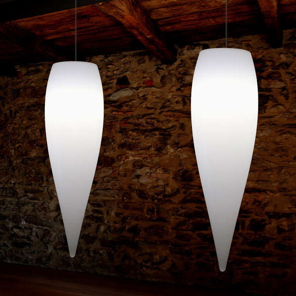Waterdrop Pendant Light, Decorative Icicle Suspension LED Lamp, 80 cm, E27, White
