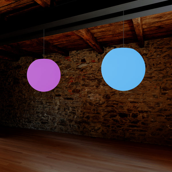 Ball LED Hanging Lamp, Multi Colour RGB Globe Ceiling Light, 400 mm, Ball Mood Lighting