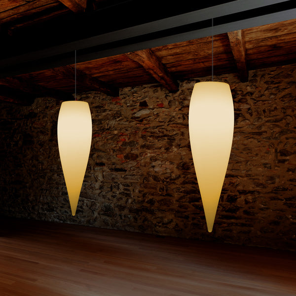 Water Drop Ceiling LED Light, Unique Designer Hanging Lamp, 800 mm, E27, Warm White