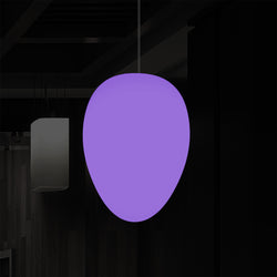 Unique Ceiling LED Light, Decorative Egg RGB Hanging Lamp, 37 cm, Ambient Mood Lighting