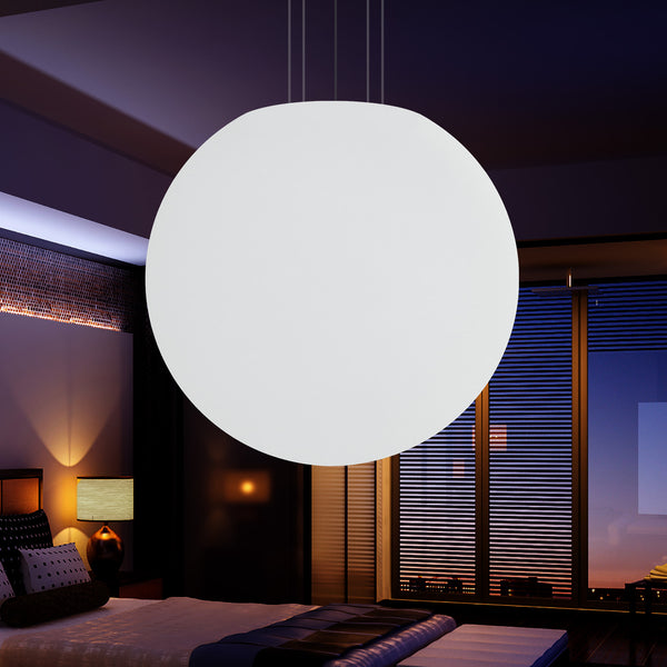 100cm LED Globe Hanging Pendant Light, Large E27 Suspended Sphere Ball Lamp, 1000mm