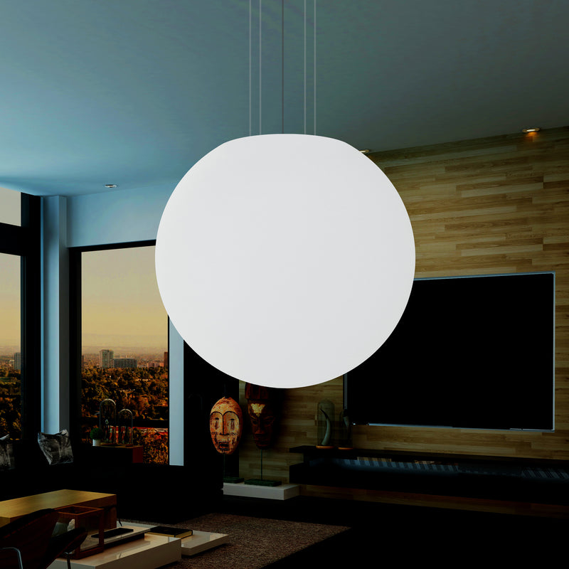 125cm LED Globe Hanging Pendant Light, E27 Sphere Ball Suspension Ceiling Lamp, 1250mm