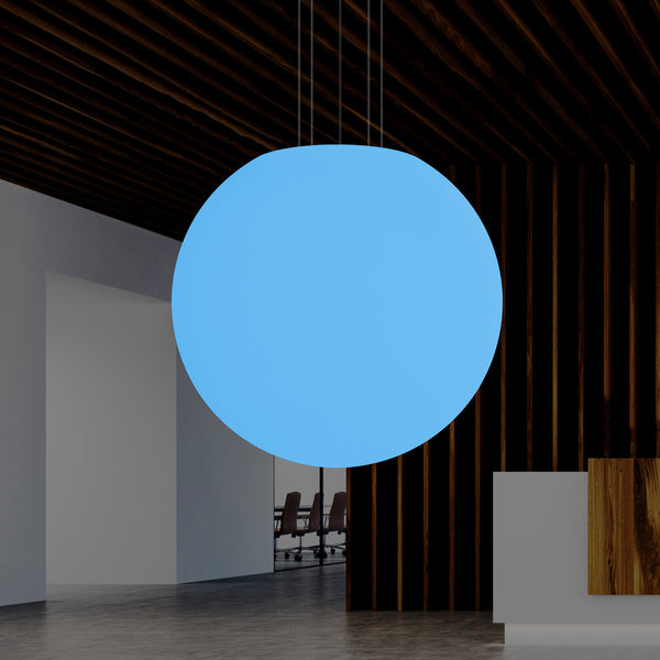 100cm Sphere Ball Pendant Hanging Light, RGB E27 Ceiling Lamp, 1000mm 1 Metre Diameter