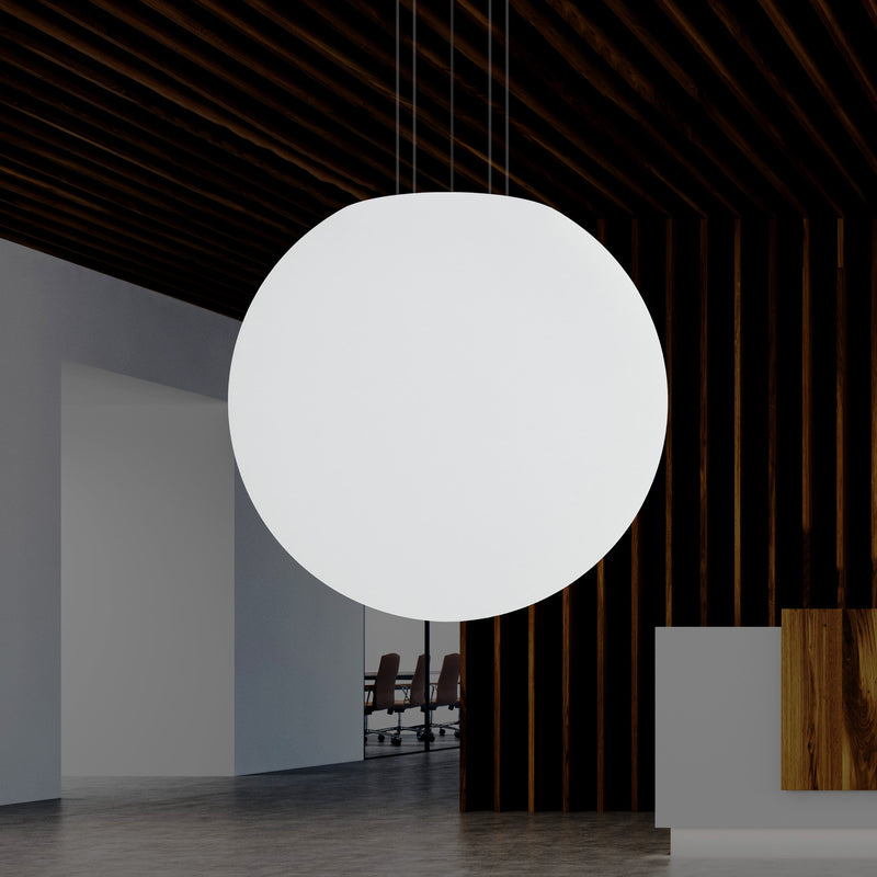80cm LED Sphere Ceiling Pendant Light, Large 800mm E27 Hanging Ball Lamp with White Bulb