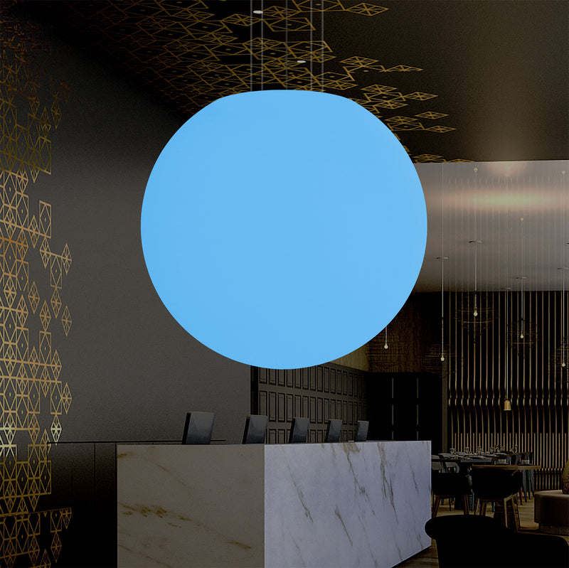 Globe Ceiling LED Light, Large 1.25m RGB Sphere Pendant Lamp, 1250 mm, Mood Light