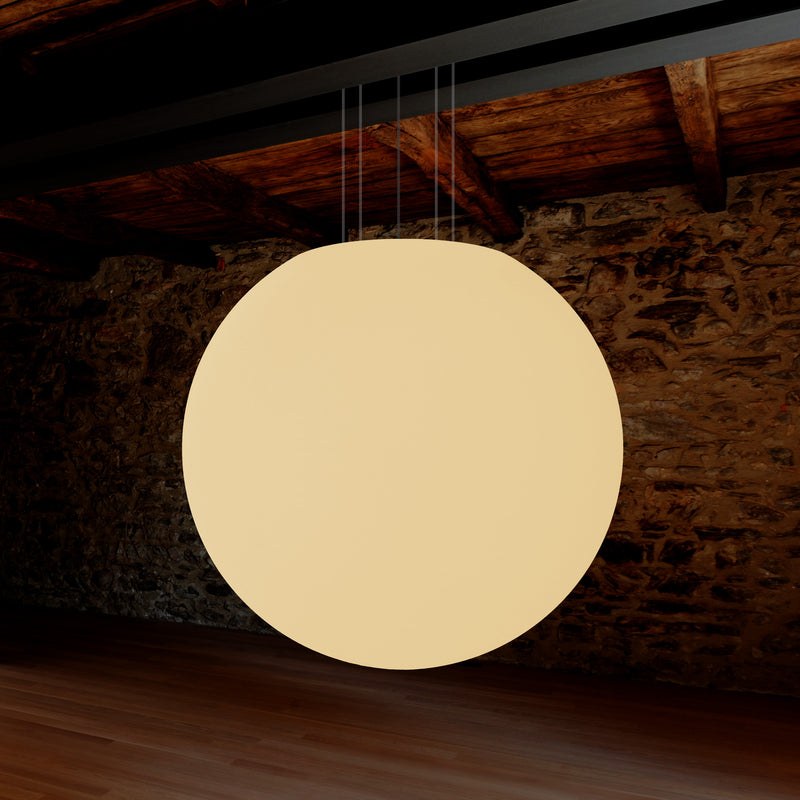 Extra Large 100cm 1m Orb Pendant Ceiling Light, Hanging Ball Globe Lamp, E27, Warm White